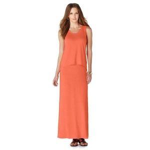 Serena Williams Signature Orange 2 Pc Maxi Dress L